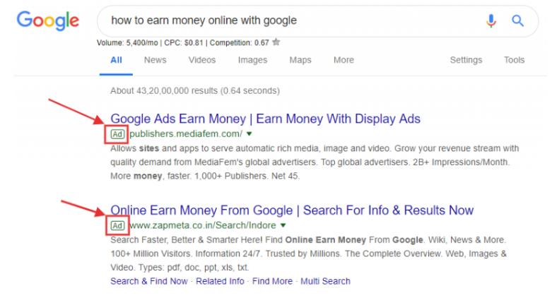 کسب در آمد از گوگل
