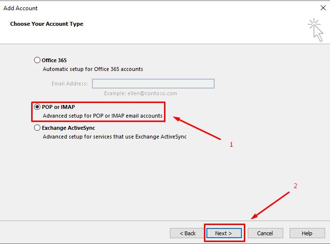 تغییر پروتکل IMAP به POP3 از طریق Outlook