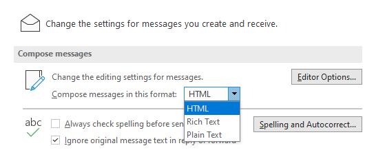 جلوگیری از ارسال فایل Winmail.dat