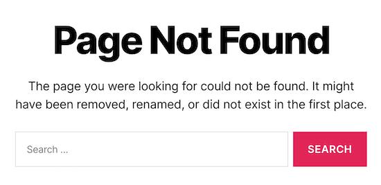 ریدایرکت صفحه خطای 404